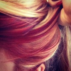 de3620241bf9 Red blonde hair Loving the color feeling ballzy wanna do red and blond  again.