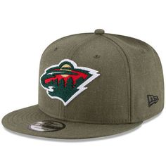 Men's New Era Green Minnesota Wild Heather Crisp 9FIFTY Snapback Adjustable Hat