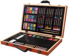 Comprehensive art set for budding artists - http://www.hgtvdecor.net/home-design/comprehensive-art-set-for-budding-artists.html