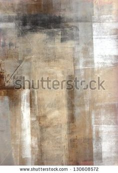 Brown And Beige Abstract Art Painting Stock Photo 130608572 : Shutterstock