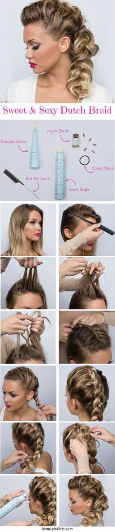 Looking for a cute braided hairstyle for date night? Check out this sweet & sexy Dutch Braid tutorial for a perfect romantic look! # side Braids night Date Night Hair - Sweet & Sexy Side Braid Tutorial Cute Braided Hairstyles, Pretty Hairstyles, Braided Pigtails, Mohawk Braid, Simple Hairstyles, Side Braid Tutorial, Date Night Hair, Natural Hair Styles, Short Hair Styles