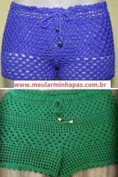 Boho Shorts, Lace Shorts, Short Tejidos, Crochet Clothes, Crochet Hats, Crochet Bathing Suits, Chor, Short Skirts, Ems