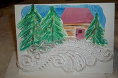 Christmas card Holiday card watercolor note by ArtFromTheCabin, $6.50