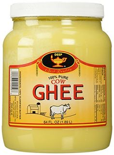Deep Pure Cow Ghee Clarified Butter from India, 64 Ounce >>> New offers awaiting you  : baking desserts recipes