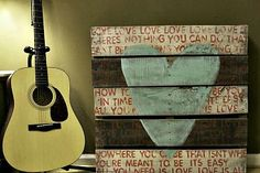 From dusty pallet to Beatles song Art piece.