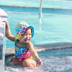 Source by Swimsuits Baby Girl Swimwear, Baby Girl Swimsuit, Baby Sun Hat, Baby Hats, Toddler Beach, Baby Swimming, Carters Baby Girl, Swim Trunks, Sun Protection