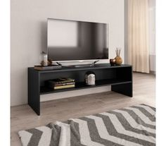 Hausman TV Stand for TVs up to Ebern Designs Colour: Black Living Room Storage, Living Room Furniture, Home Furniture, Armoire Tv, Sonoma Oak, Love Your Home, Wood Dust, Australia Living, Tv Cabinets