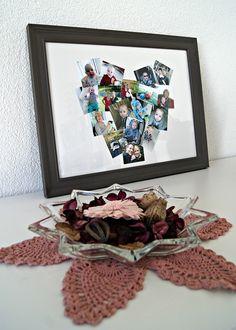 DIY - Anleitung: Fotos als Herz im Bilderrahmen schenken.   von Fantasiewerk