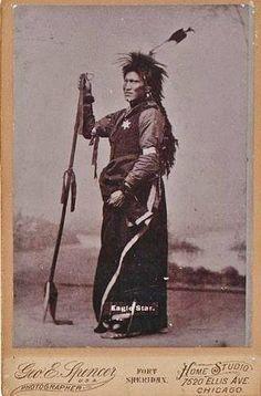 Wicahpi Wanbli (aka Eagle Star, aka Paul Eagle Star) - Sicangu - before his death in 1891