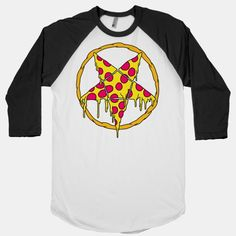 Pizzagram (pentagram) baseball shirt.  Awesome!
