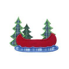 Lake Canoe Applique Machine Embroidery Digital by HappyApplique Applique Templates, Applique Patterns, Applique Designs, Machine Embroidery Designs, Quilt Patterns, Embroidery Machines, Owl Templates, Applique Ideas, Machine Applique