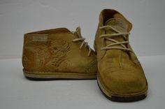 #Quiksilver #Tan #Chukka #Boot #Size11 #WELLWORN #Skulls #Birds #Tattoo #Design #Leather #Quiksilver #ChukkaBoots