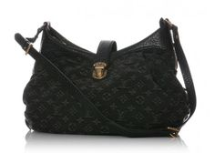Louis Vuitton Black Denim Mahina XS Shoulder Bag