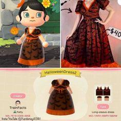 Animal Crossing Guide, Animal Crossing Qr Codes Clothes, Alice In Wonderland Crafts, Strawberry Dress, Motifs Animal, Halloween Dress, Halloween Design, New Leaf, Coding