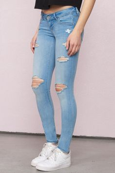 Best Jeans For Women Ragged Jeans – thedearlover Cute Ripped Jeans, Ripped Jeggings, High Jeans, Skinny Jeans, Jeans Pant For Girl, Grey Jeans Men, Girls Pants, Jeans Pants, Ragged Jeans