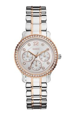 Women  Watches - GUESS Womens U0305L3 MultiFunction Two Tone Watch in Silver  Rose GoldTones * Read more at the image link. (This is an Amazon affiliate link)