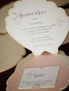 wedding invitation to a sea weddong <3