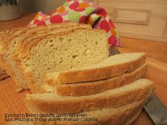 Not Missing a Thing! Allergy Friendly Cooking: Awesome Sandwich Bread {gluten, dairy and egg-free}