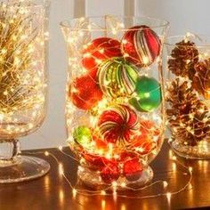 My Style 56 Cheap and Easy DIY Christmas Centerpieces Ideas You Should Try - Xmas Table Decorations, Christmas Centerpieces, Diy Ugly Christmas Sweater, Christmas Diy, Easy Diy, Candle Holders, Candles, Color, Decorating