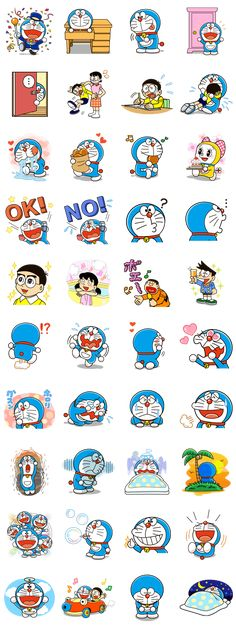 Doraemon Line Sticker - Rumors City Doraemon Wallpapers, Cute Cartoon Wallpapers, Anime Fnaf, Anime Manga, Doraemon Cartoon, Hello Kitty Themes, Crayon Shin Chan, Line Sticker, Cute Characters