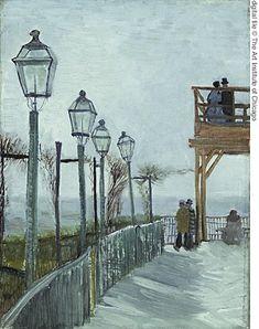 "Vincent Van Gogh. ""Terrace and Observation Deck at the Moulin de Blute-Fin, Montmartre"" , 1887"