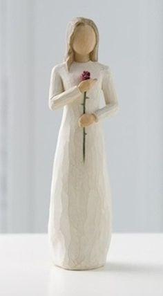 WilloeTree Love Figurine, by Susan Lordi, Demdaco Pottery Sculpture, Tree Sculpture, Ceramic Sculptures, Willow Figures, Willow Tree Statues, Willow Tree Engel, Willow Tree Figuren, Tree People, Rose Stem