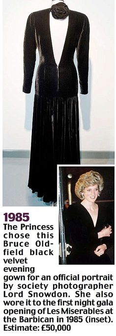 In 1985 the Princess chose to wear this Bruce Oldfield gown for a professional portrait by society photographer, Lord Snowdon