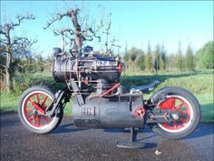 Mad Motorcycle Mechanic Builds Steam Powered Bike 4