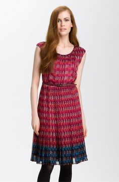 Halogen Pleated Chiffon Dress - Nordstrom