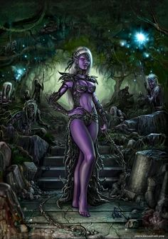 fantasy art drow | Drow Anniversary by *SirTiefling on deviantART