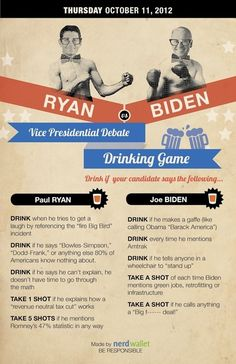 Vice Presidential Debate Drinking Game