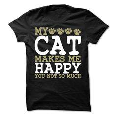 My Cat Makes Me Happy T-Shirt