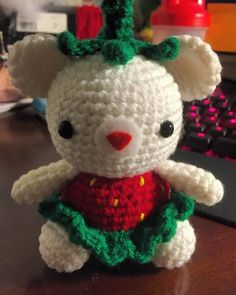 Been awhile, right? Here is something I made for Mother's Day ^^. #amigurumi #crochet #yarn #cute #kawaii #diy #handmade #crafts #strawberry #fruit #teddybear #mothersday #love