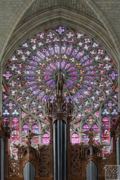 Impressive stained glass rose window ~ Saint Gatien's Cathedral Built between 1170 Gothic architecture in south transept, Tours, France Stained Glass Rose, Stained Glass Church, Stained Glass Windows, Beautiful Architecture, Beautiful Buildings, Art And Architecture, French Gothic Architecture, Cathedral Architecture, Leaded Glass