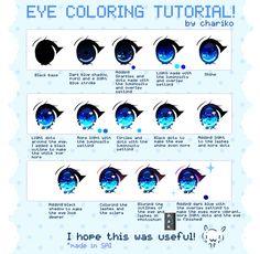 Eye coloring tutorial by CHARIKO.deviantart.com on @DeviantArt