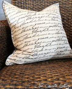 Make plump French pillows with this tutorial.