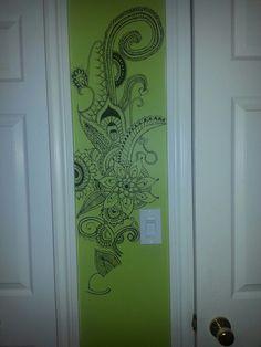Handmade wall art by artist