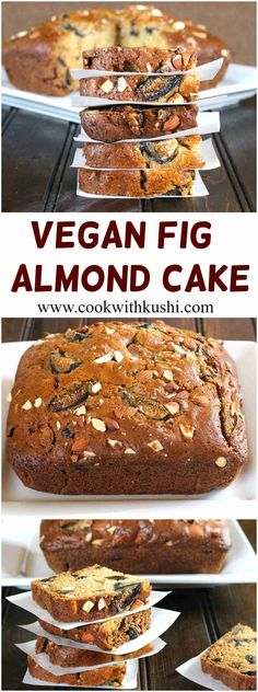 Vegan Fig Almond Cake or Anjeer Badam Cake is a soft and moist, delicious cake perfect for parties and holidays. This recipe is so simple and easy to make that even beginners can impress anyone, and y (Yummy Fall Recipes) Bolo Vegan, Vegan Cake, Eggless Baking, Vegan Baking, Fig Recipes, Sweet Recipes, Fig Dessert Recipes Vegan, Vegan Recipes For Beginners, Cake Recipes