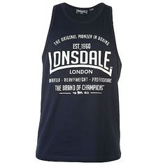 #Lonsdale mens boxing vests top sleeveless tank #scooped neck sports #clothing,  View more on the LINK: http://www.zeppy.io/product/gb/2/371470562335/