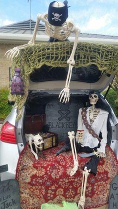 Piraten-Trunk-or-Treat # gardenia Pirate Halloween, Pirate Party, Halloween 2017, Holidays Halloween, Fall Halloween, Halloween Crafts, Halloween Decorations, Halloween Party, Halloween Ideas