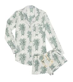 NEW - Desmond & Dempsey Howey Cotton Short Pyjamas - Fortnum & Mason