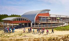 The Chesapeake Bay Foundation's Brock Environmental Center is one of the world's most sustainable buidings and generates nearly twice as much energy as it needs.