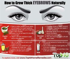 Grow thicker eyebrows naturally.