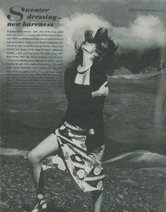 Vogue Editorial January 1972 - Cynthia Korman & Emmanuelle by Helmut Newton