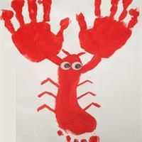 Langouste pied main , Activité manuelle et bricolage enfant