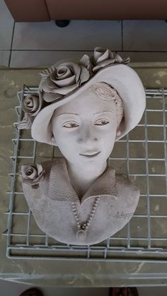 woman hat and flower