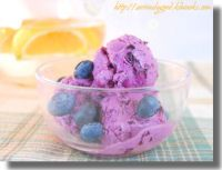 Sally & Mell's home made blueberry ice cream