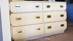 junk find: vintage campaign dresser @WhisperWood Cottage Cottage