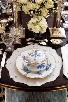 Stacking the dinnerware gives guests the idea of relaxation, knowing there's more to come. MB