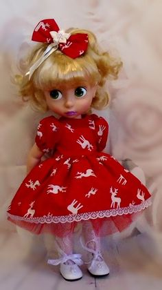Dress & hair bow for Disney Animator dolls by Vintagebaby